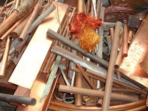 Altmetall: sauberer Kupfer